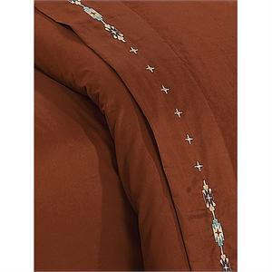 Navajo Southwestern Bedding Sheet Set Copper