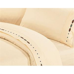 Navajo Southwestern Bedding Sheet Set Cream
