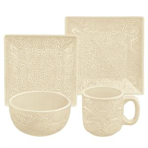 Savannah Western Styled Stoneware Dinnerware Set Cream