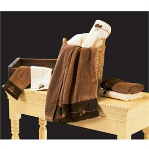 Pine Cone Bath Towel Set (3) Pc Mocha