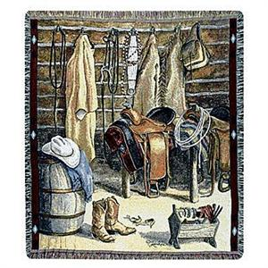 Cowboy Closet Western Themed Throw Blanket