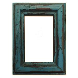 Rustic Distressed Wood 8x10 Frame Turquoise