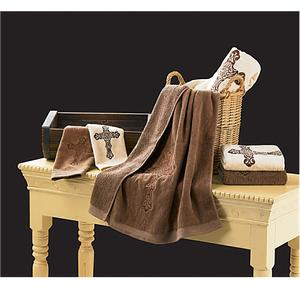 Western Bath Decor Cowboy Cross Towel Set
