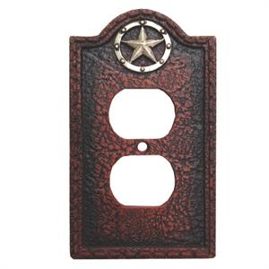 Lone Star Western Style Decorative Electrical Outlet Cover Wall Plate
