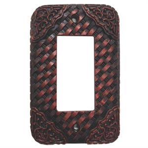 Basketweave Decorative Switch Wall Plate Single Rocker