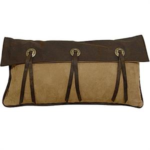 Laredo Star Embroidery Chocolate Mocha and Dark Tan Concho Pillow