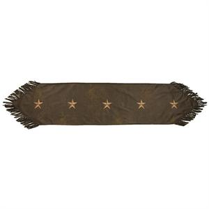 Laredo Star Table Runner Chocolate