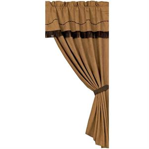 Barbwire Curtian Attached Valance Tan