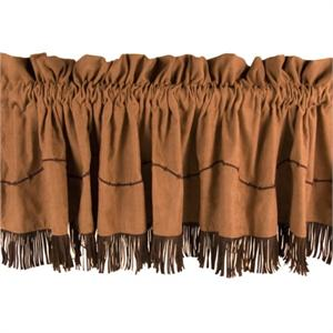 Barbwire Window Valance (with fringe)