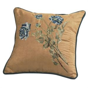 Bella Vista Rose Embroidered Throw Pillow