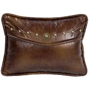Ruidoso Western Faux Leather Oblong Pillow