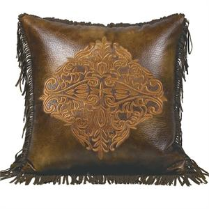 Austin Embroidered Design Throw Pillow