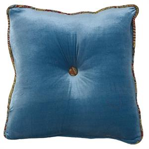 San Angelo Teal Throw Pillow