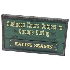 Business Hours Novelty Western Wood Sign