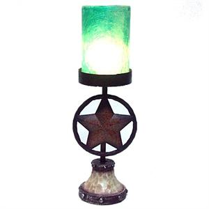 Circle Star Western Faux Candle TV Lamp