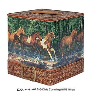 Spring Creek Run Horses Tissue Cover