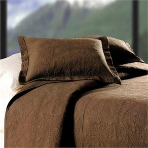 Quilted Matelasse Choco Brown Full / Queen