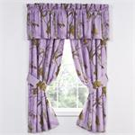 Realtree Lavender Camo Curtain and Valance Set