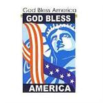 God Bless America Patriotic Garden Flag SM
