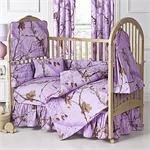 Pink AP Camo Baby Crib Bedding Set