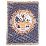U.S. ARMY & ARMY Emblem Afghan Throw Blanket