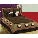 Full size shown Texas Flag Western Comforter Bedding Set