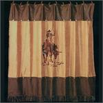 Bull Riding Shower Curtain