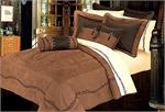 Image Barbwire Western Bedding Comforter Set Dark Tan