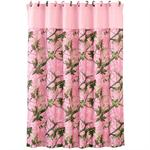 Camo Pink Shower Curtain