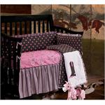 Image of Baby Cowgirl Western Pink Baby Crib Bedding HiEnd Accents