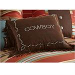 Cowboy Studded Western Pillow