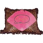Cowgirl Leopard Throw Pillow