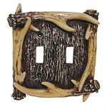Antler Decorative Switch Wall Plate Double Switch