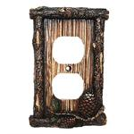 Pine Cone Decorative Outlet Wall Plate Single