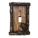 Pine Cone Decorative Switch Wall Plate Single Switch