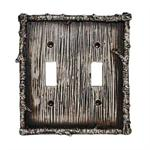 Birch Decorative Switch Wall Plate Double Switch