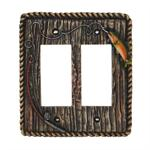 Rainbow Trout Switch Wall Plate Double Rocker