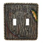 Rainbow Trout Switch Wall Plate Double Switch