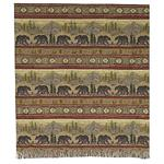 Rustic Black Bear Lodge Throw Blanket