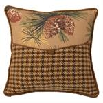 Crestwood Rustic Pine Cone Envelope Pillow