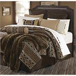 Canyon Crest Navajo Pattern Fleece Blanket Coverlet King