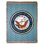 U.S. NAVY & NAVY Emblem Throw Blanket