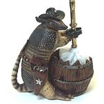 Armadillo Bowl Brush Holder