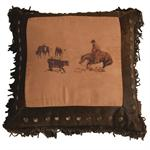 Cutting Horse Throw Pillow