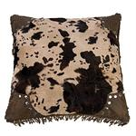 Caldwell Scalloped Edge Faux Cowhide Throw Pillow