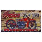 INDIAN MOTORCYLCE 1934 Vintage Wood Sign