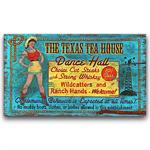 Texas Tea Vintage Western Decor Wood Sign 26x14