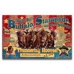 Buffalo Stampede Vintage Western Decor Wood Sign