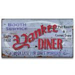 YANKEE DINER Vintage Wood Advertising Sign