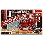 LOBSTER SHACK Vintage Wood Advertising Sign